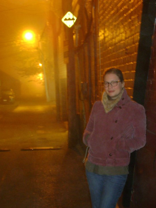 foggy alley in Toronto