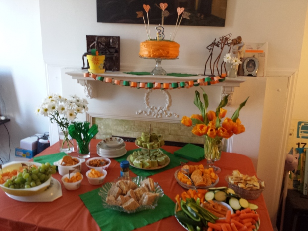 Orange and Green Party Table