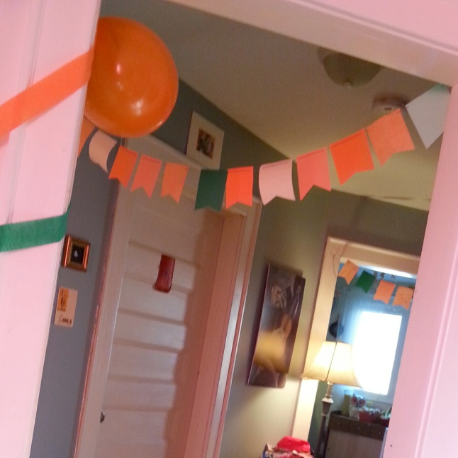Handmade Paper Birthday Pennants