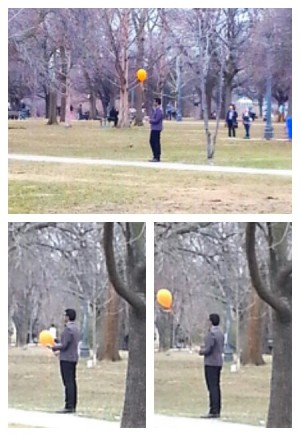 Man with an Orange Balloon in Trinity Bellwoods